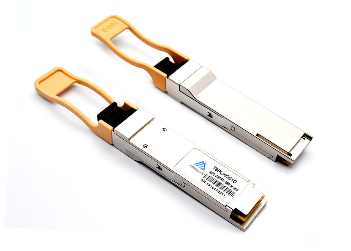 850nm 150m 100G QSFP28 SR4 MTP / MPO Transceiver I2C Management Interface